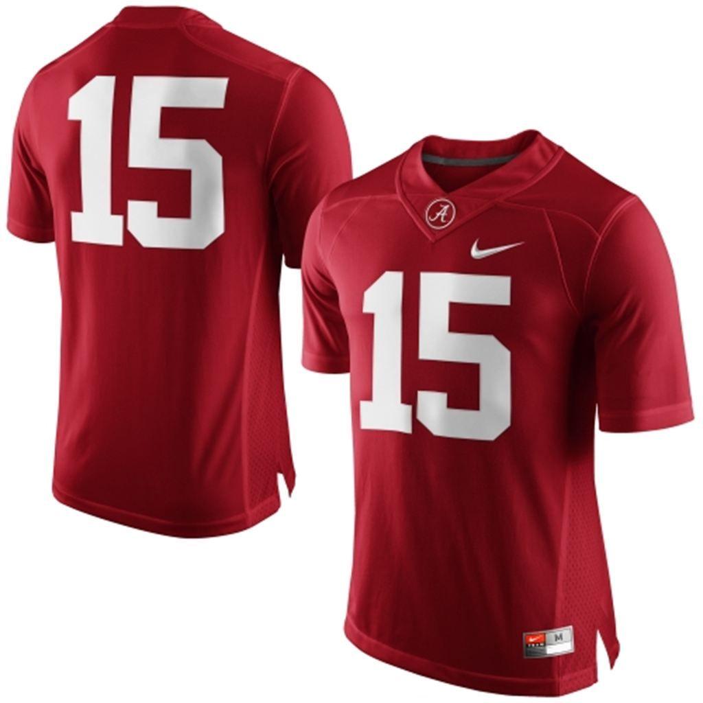 big sale 711bd d93a9 Men's Nike Crimson Alabama Crimson Tide #15 Limited Football ...