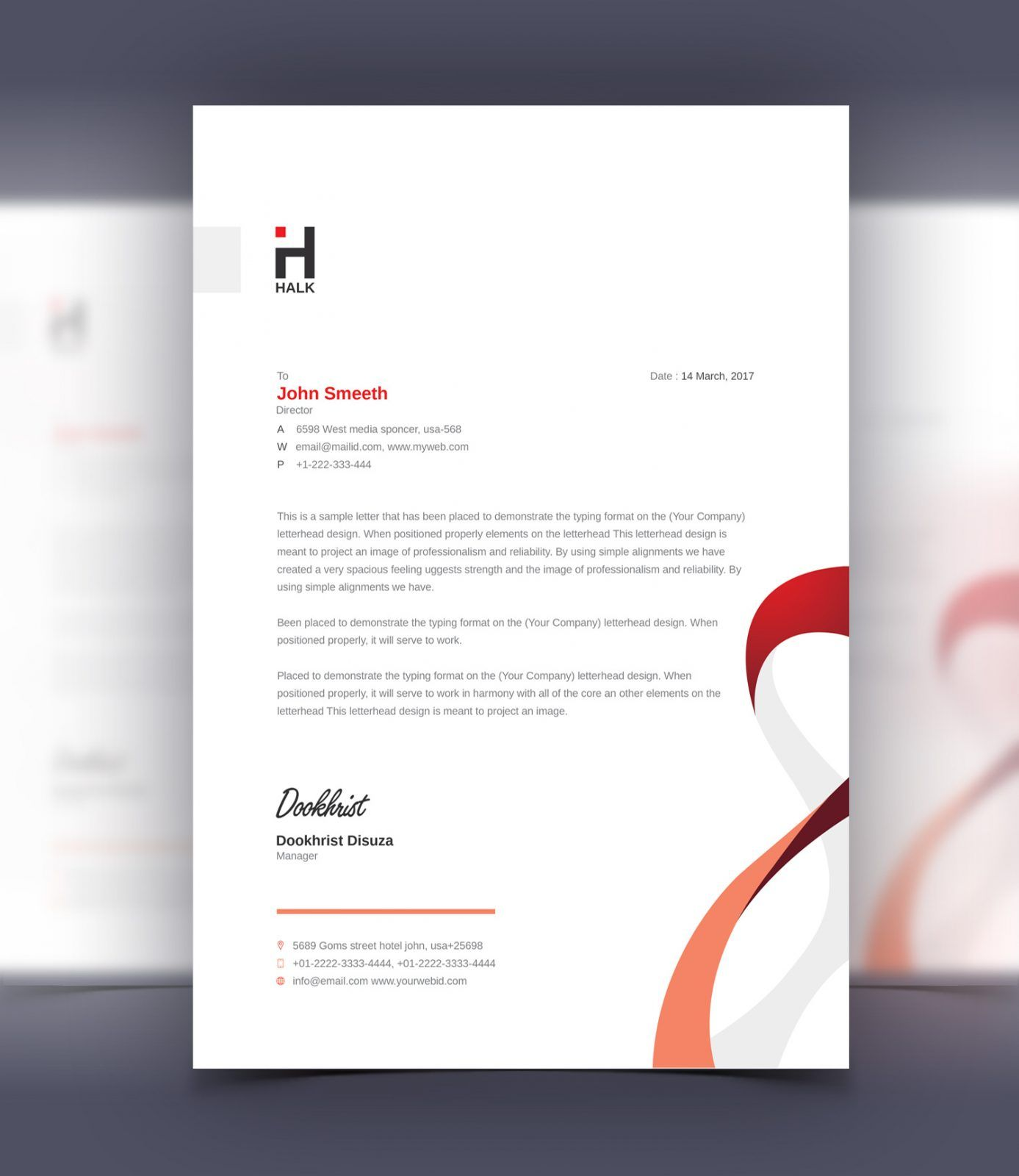 Elegant Professional Corporate Letterhead Template 000890: Aeolus Professional Corporate Letterhead Template 001024