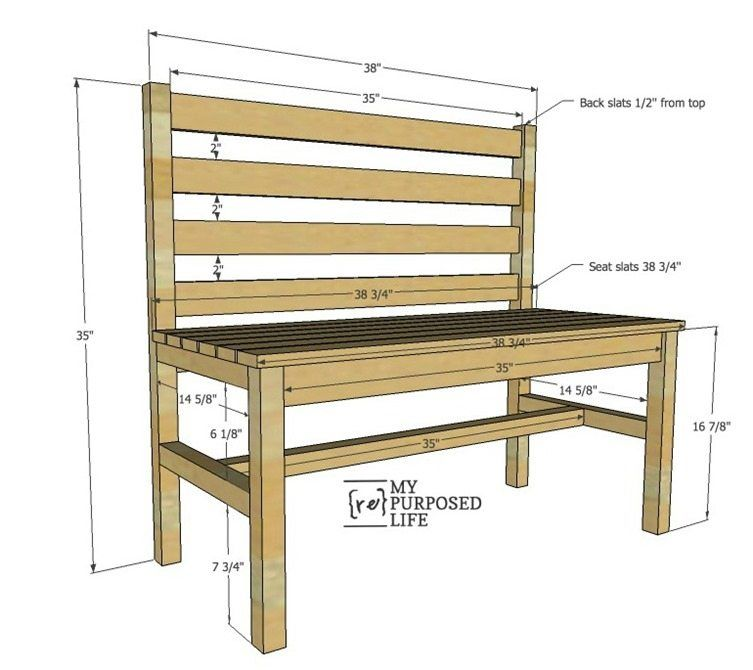 Phenomenal Wooden Slat Bench Plans Woodworking Rustic Wooden Bench Creativecarmelina Interior Chair Design Creativecarmelinacom
