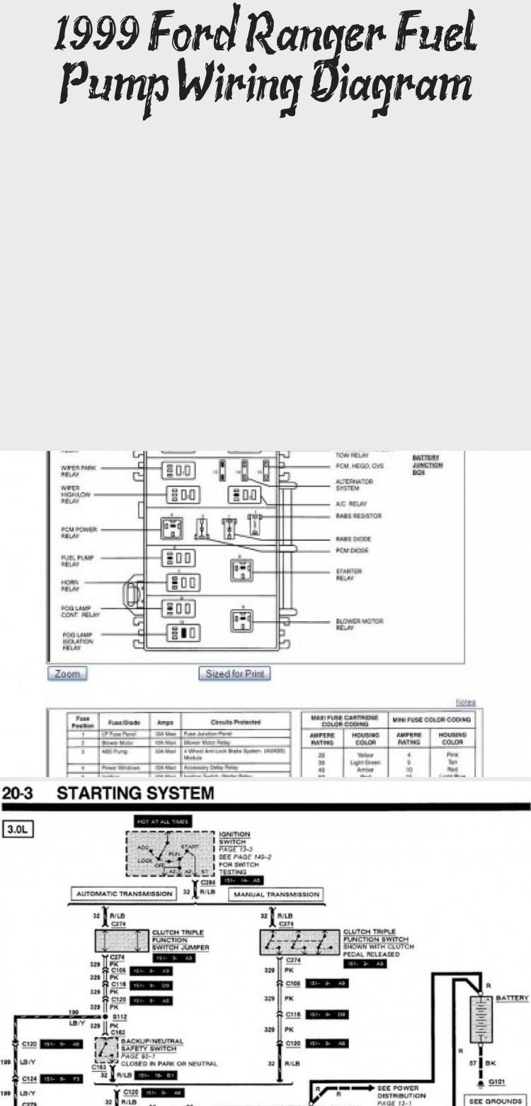 1999 Ford Ranger Fuel Pump Wiring Diagram Cars Ford Ranger Ford Ford Ranger Truck