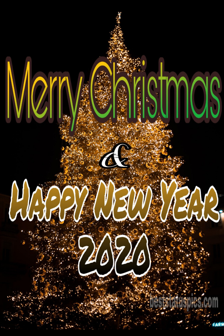 Merry Christmas Happy New Year 2020 Facebook Cover
