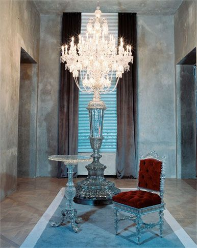 Baccarat: floor lamp chandelier   Yes I want it!!!!