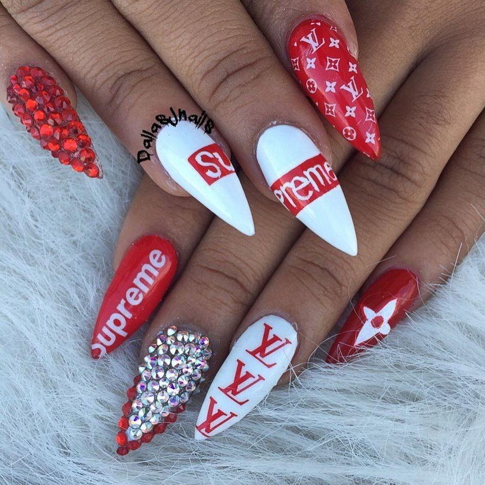 matiasines7 | NAILS | Pinterest | Nail wraps, Supreme and Louis vuitton