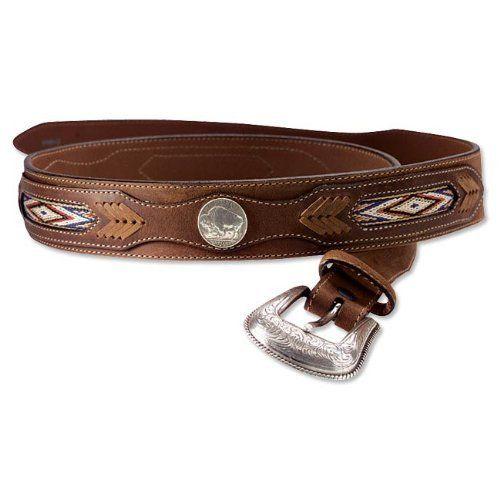 "Men/'s Genuine Leather Triple Braided Casual Western Jeans Belt 1-1//2/"" Wide"