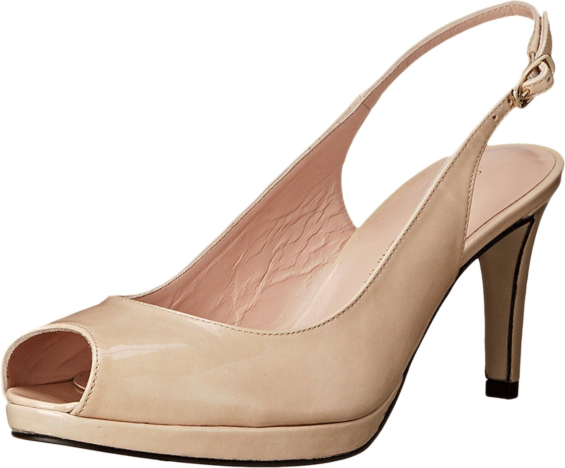 Stuart Weitzman Women's Slinky Naked Aniline Pump 7 W. Made in USA or  Imported.