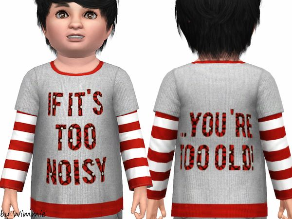 Toddler Sweater Mr Nice Guy by Wimmie - Sims 3 Downloads CC Caboodle