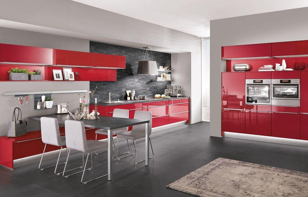 Cuisine Nobilia Rouge Kitchen Pinterest - Meuble de cuisine nobilia pour idees de deco de cuisine