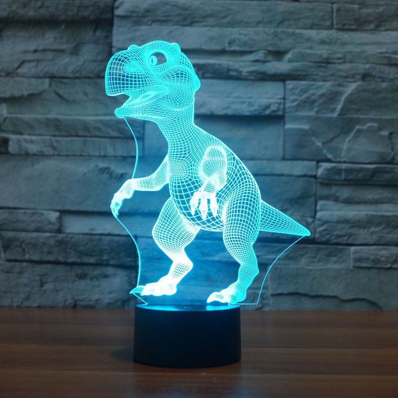 Product Overview The Dinosaur 3d Led Illusion Lamp Is A Combination Of Art And Technology That Creates An Optical 3d Illusion Lamp Dinosaur Lamp Dinosaur Room