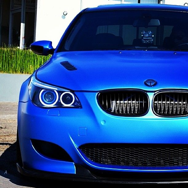 Beauty In Blue Matte Blue Bmw M5 With Images Bmw Dream Cars