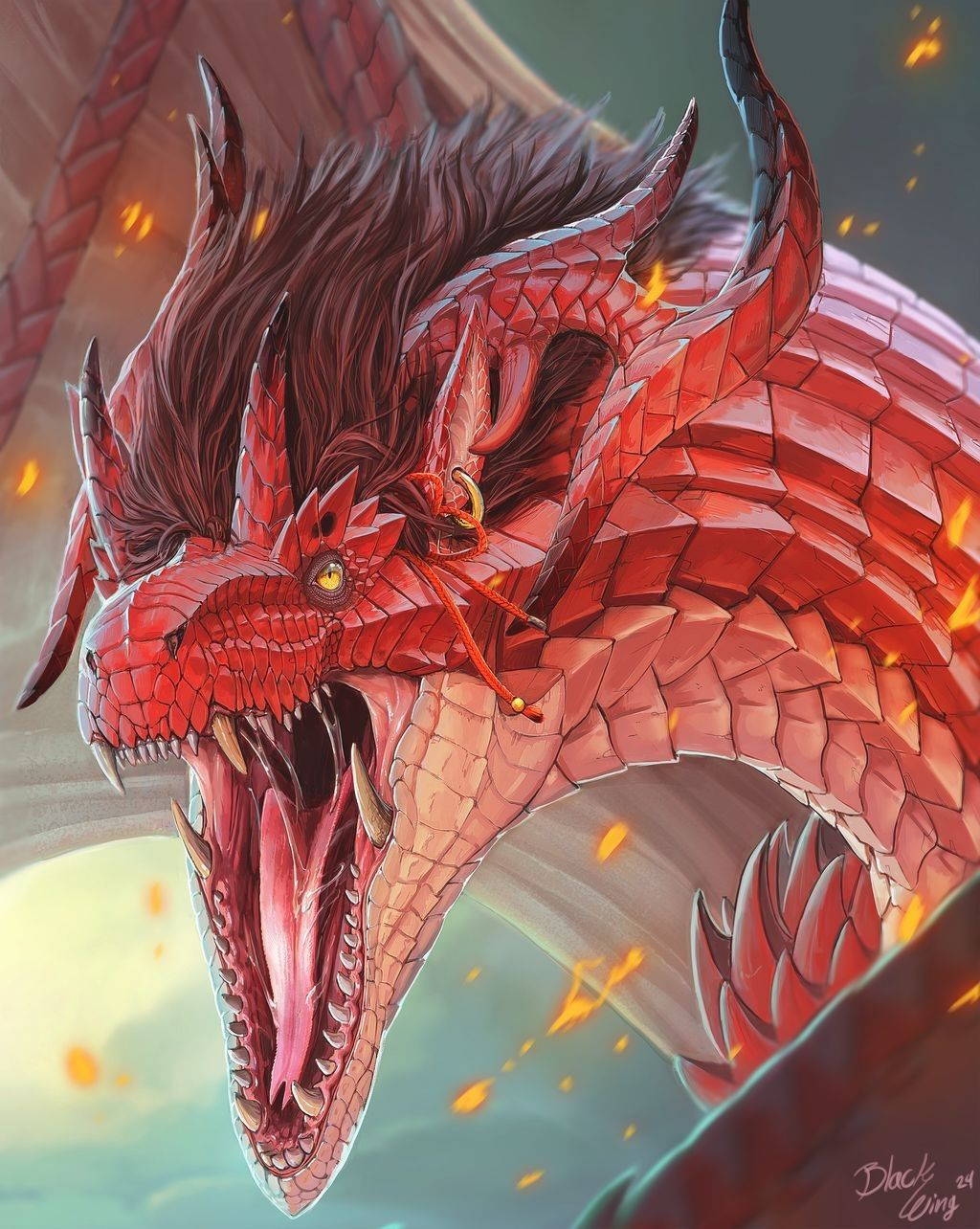 Pin By Dinei Tuinivar On Harry Potter In 2020 Realistic Dragon Drawing Eastern Dragon Realistic Dragon