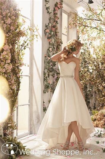 A simple and elegant high low bridal gown. Voyage by Mori Lee 6772