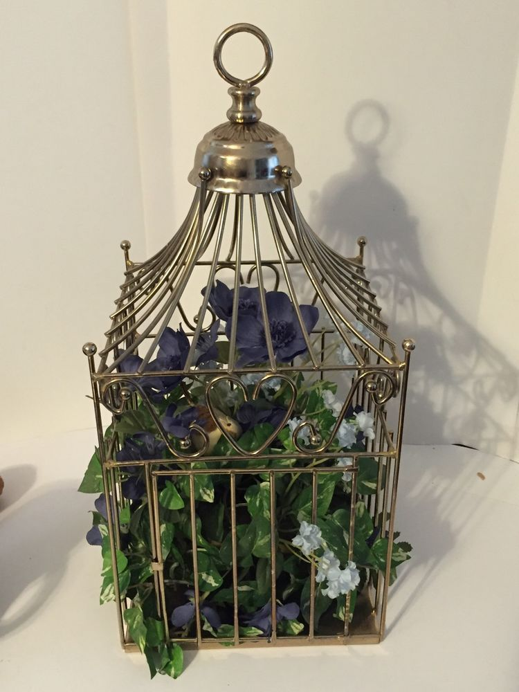Superbe Vintage Home Interiors Homco Brass Metal Square Birdcage With Hearts Very  Ornate #HomeInteriorsHomco