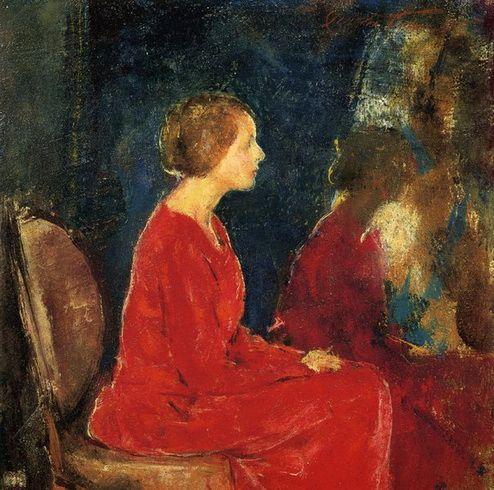 Charles Webster Hawthorne -  The Red Dress