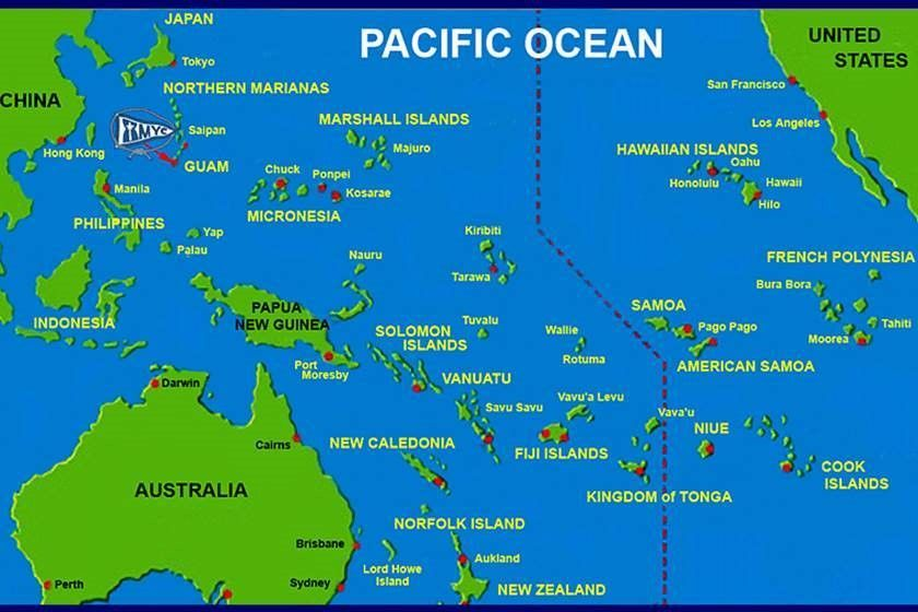 Map Of Pacific Ocean Islands PACIFIC OCEAN ISLANDS | SAMOA AND AMERICAN SAMOA TAHITI FIJI