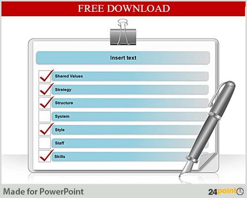 free downloadable ppt slide - mckinsey 7s framework | presentation, Presentation templates