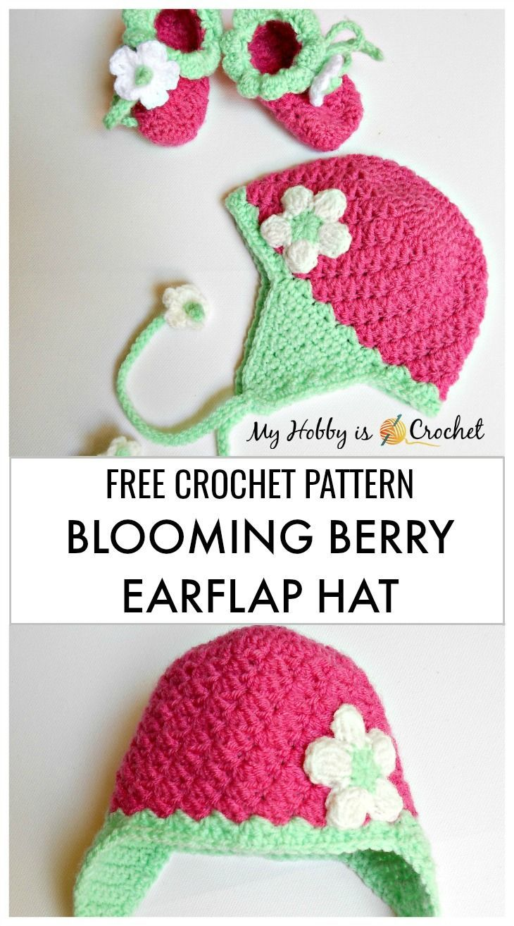 Photo of Blooming Berry Earflap Baby Hat – Free Crochet Pattern