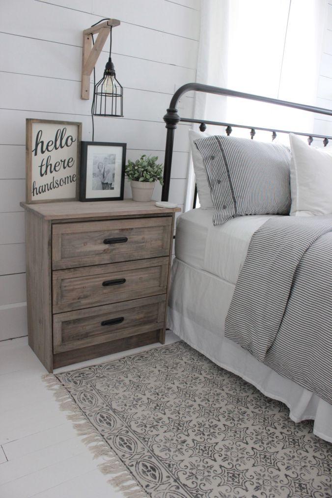 Farmhouse Master Bedroom Makeover Meuble Chambre A Coucher