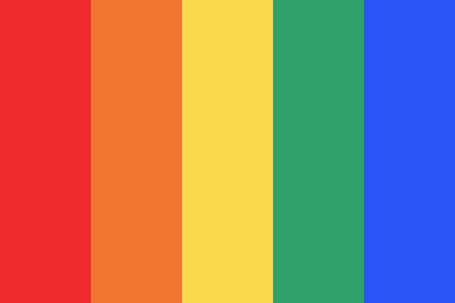 Rainbow Color Palette I Like This One Because It Has A Variety Of