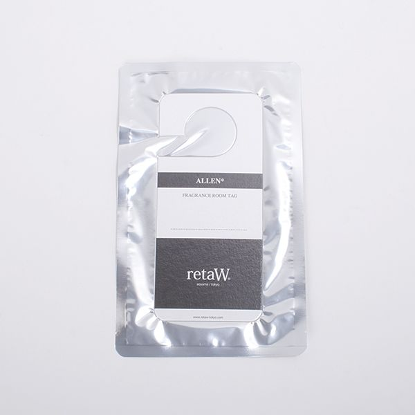 retaW Allen Fragrance Room Tag - The retaW Fragrance Room Tag can be hung anywhere - in your car, wardrobe, or on a door handle.The thick cardboard sheet in the shape of a 'Do Not Disturb Sign' delivers your favorite retaW fragrance anywhere you choose.