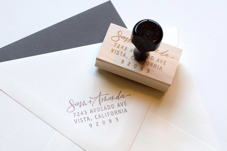 Rubber Stamp,Designer wedding stamp Personalized Return Wedding Address Stamp