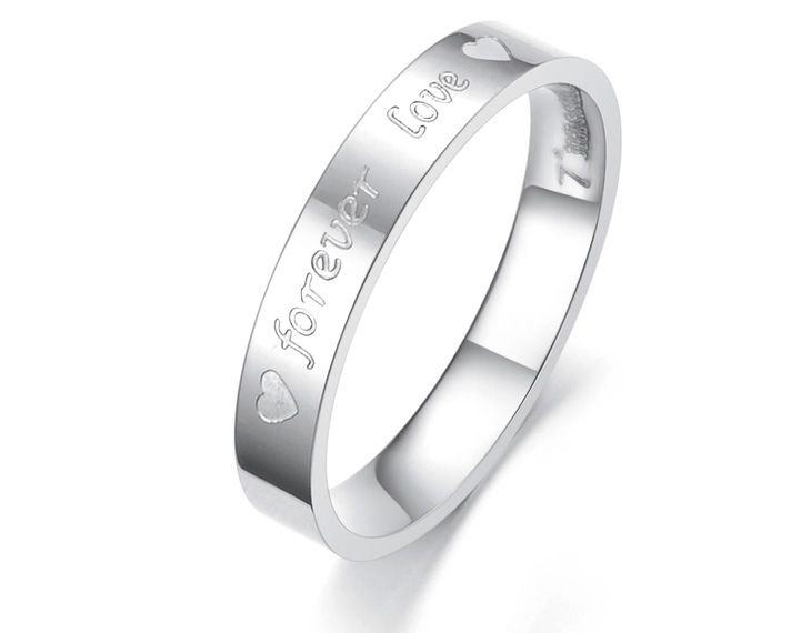 Forever Love Anium Stainless Steel Mens Las Promise Ring Wedding Bands Matching Set