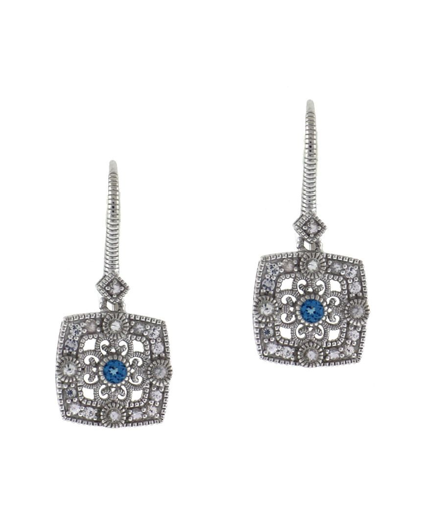 Judith Ripka Classic Silver 0.24 ct. tw. Spinel Filigree Earrings is on Rue. Shop it now.