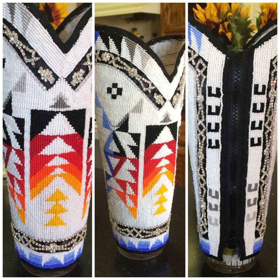 Aebaga Creations Custom Leggings Native American Beading
