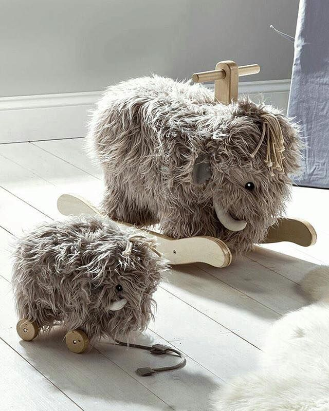 Wooly Mammoth Rocking Horse Friendly Nursery