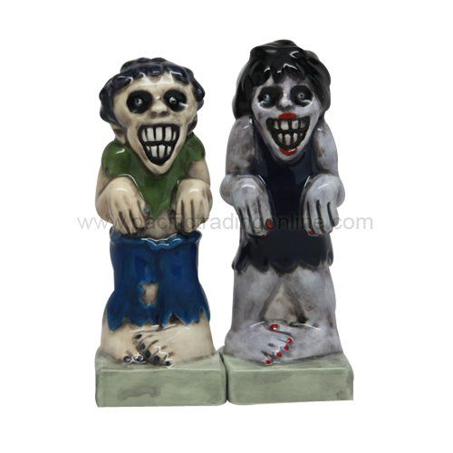 ATTRACTIVES SALT AND PEPPER SHAKER - ZOMBIES @ niftywarehouse.com #NiftyWarehouse #Zombie #Horror #Zombies #Halloween
