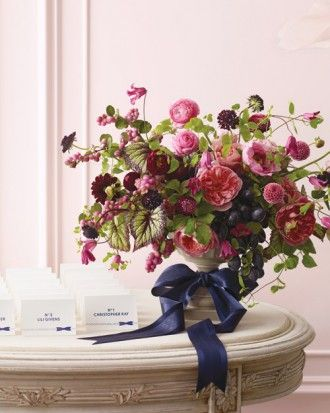 """See the """"Pink-and-Navy Floral Arrangement"""" in our  gallery"""