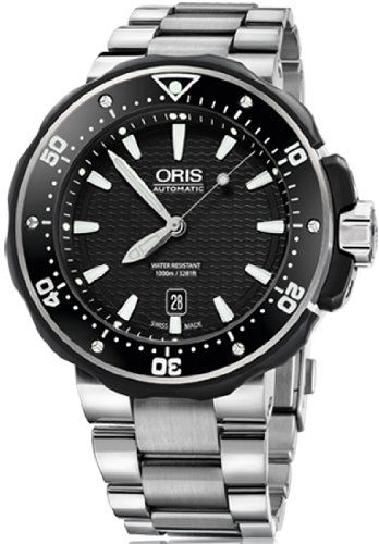 Oris ProDiver Date Mens Titanium Bracelet Automatic Watch 73376827154MB | Your #1 Source for Watches and Accessories