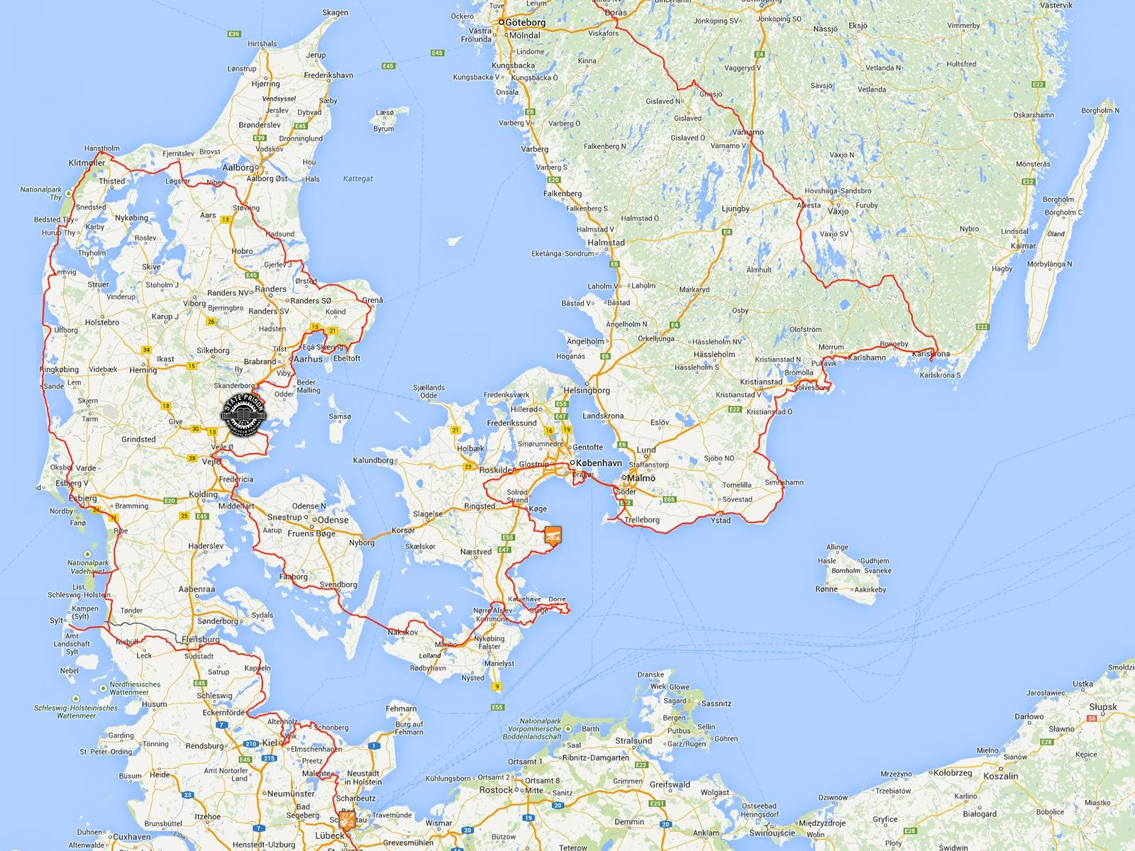 RIDE EUROPEAN TOURING ROUTE TO HORSENS STATE PRISON MOTORCYCLE