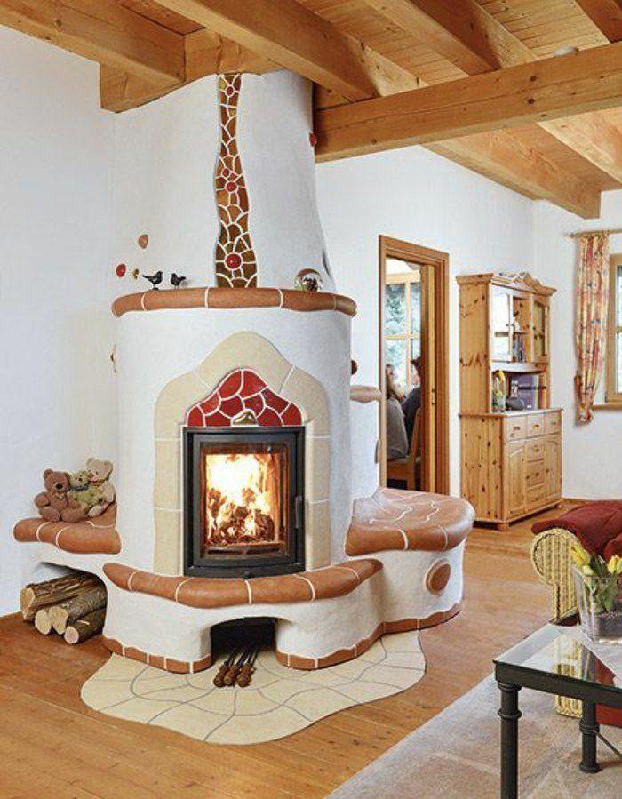 1001 id es pour transformer une chemin e rustique en moderne cheminee pinterest chemin e. Black Bedroom Furniture Sets. Home Design Ideas