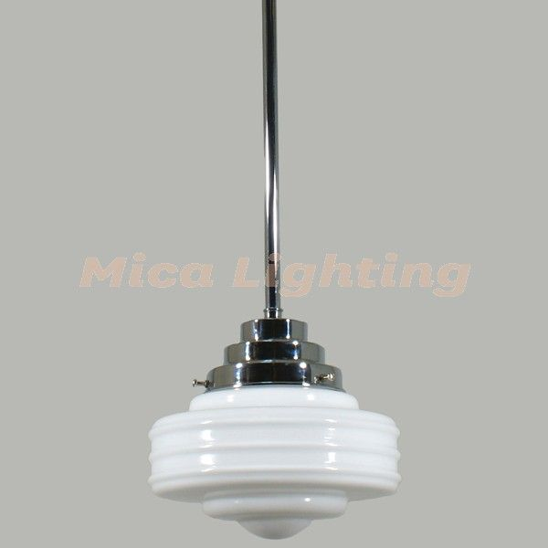 "Astoria 1 Light 0.5"" Rod Set Chrome Detroit Small Glass"