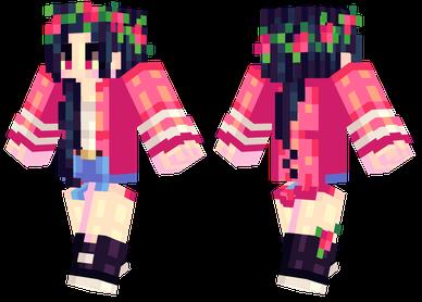 minecraft rose skin