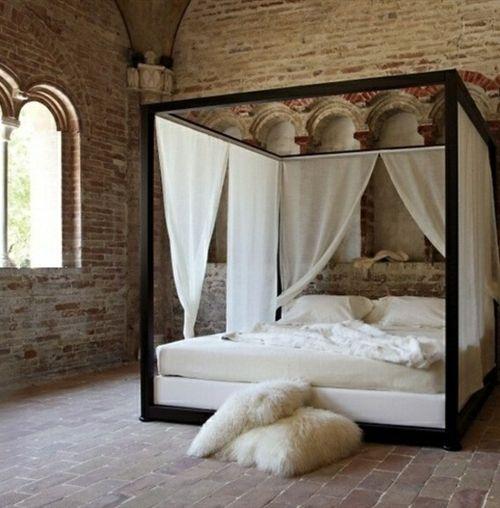 33 Erstaunliche Weiße Himmelbett Designs Für Ihr Schlafzimmer   # Schlafzimmer