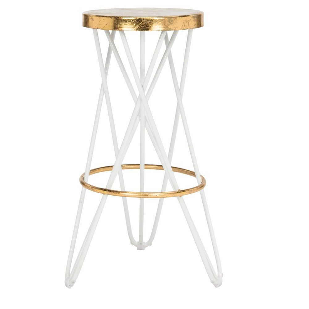 Counter And Bar Stools Safavieh White Gold Products