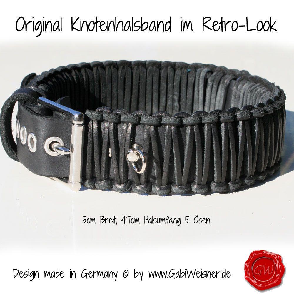 Lederhalsband verstellbar 5cm Breit | Hundehalsband Leder ...