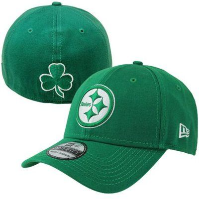 9d0b4ab72ad2 New Era Pittsburgh Steelers 39THIRTY St. Patrick s Day Flex Hat - Kelly  Green