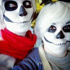 Cosplay Sans/Papyrus (maquillage)