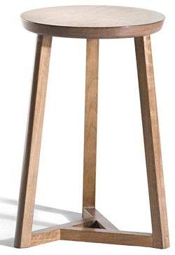 Oslo 3 Legs Stool Medium Walnut Contemporary Bar Stools And