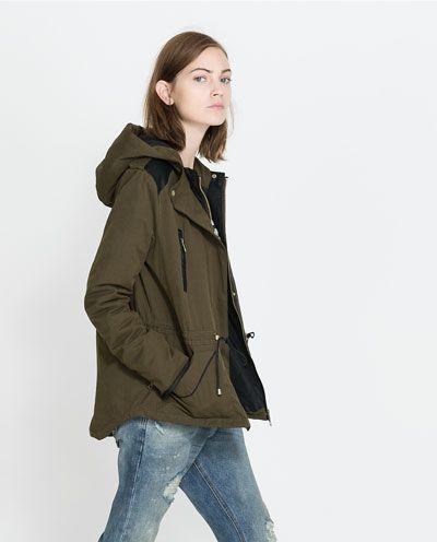 Image 2 of SHORT COMBINATION PARKA from Zara