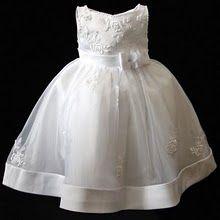 Bebe Vestido 1 Año Formal De Fiesta Blanco Comunion Bautismo
