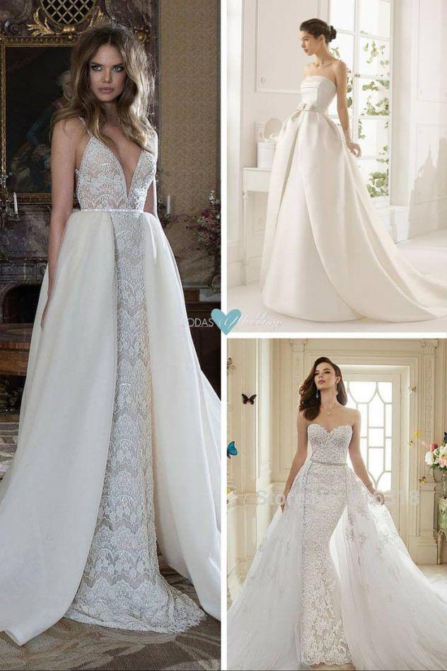vestidos de novia desmontables, magia, belleza y practicidad