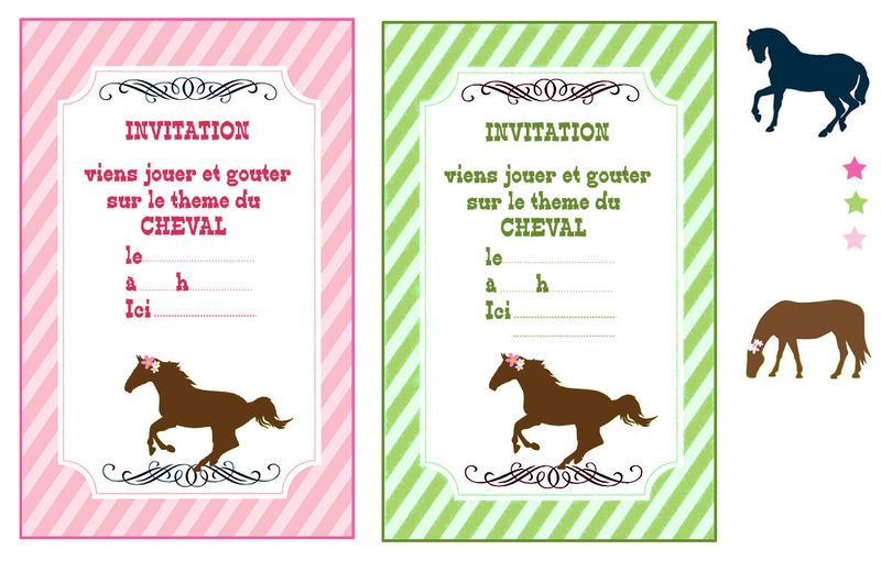 invitation anniversaire theme cheval