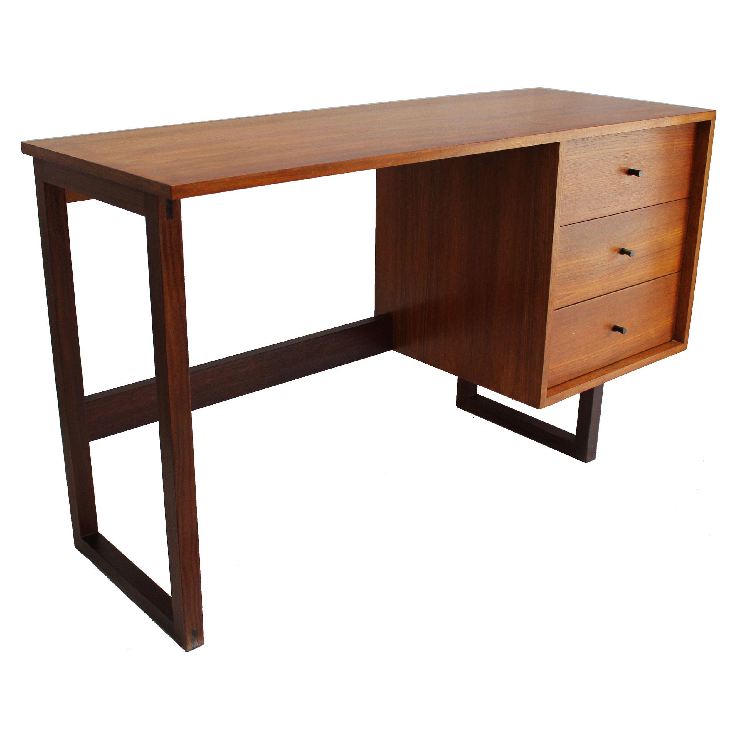 1960s R S Associates Mid Century Danish Modern Teak Desk