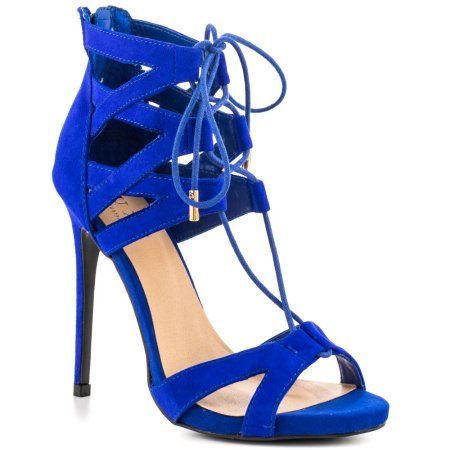 Royal Blue Strappy Heels | Tsaa Heel