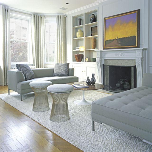 Modern interpretation of a Victorian living room.