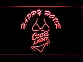 Newly Listed 626 R Coors Light Bikini Happy Hour Beer Neon Sign In 2020 Neon Signs Led Neon Signs Coors Light