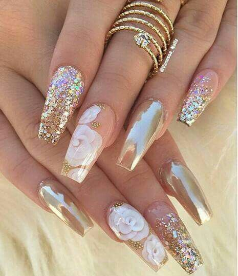 Estilo Con Efecto Espejo Uñas Pinterest Nails Nail Designs Y